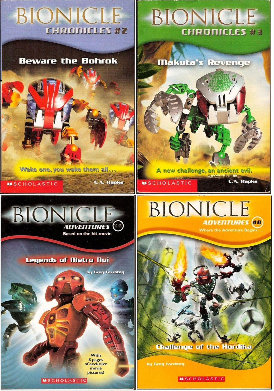 Bionicle Chronicles Adventures and Official Guide Scholastic 6 book lot