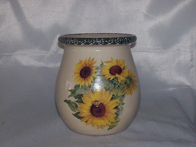 Home Garden Party Sunflower Jar