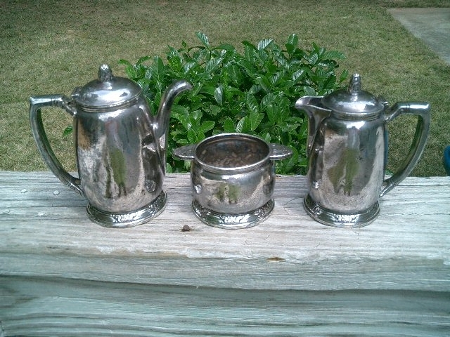 1931 WALDORF ASTORIA INTERNATIONAL SILVER 3 PIECE SERVER SET