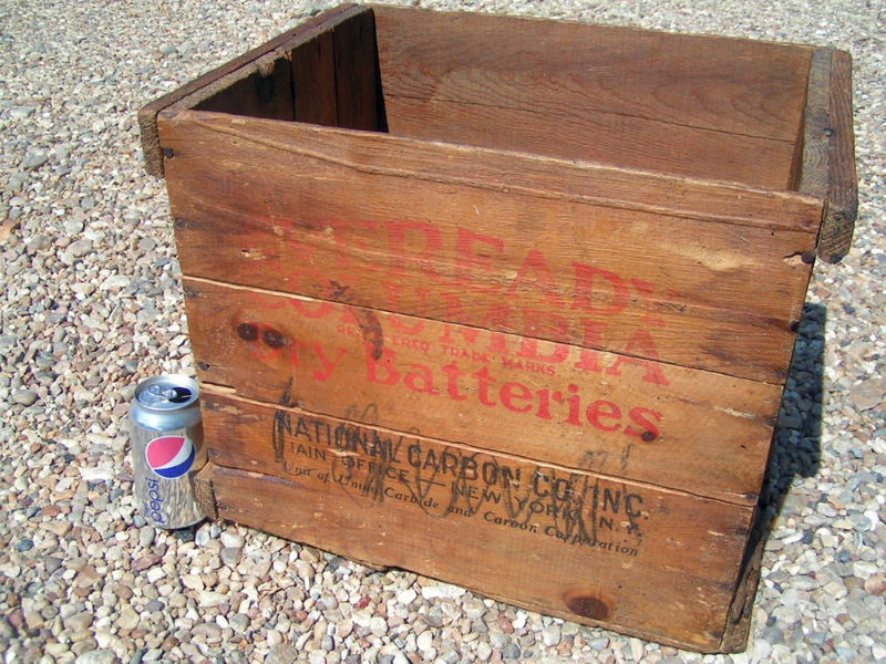 Used wooden crate box for sale 82 ads in us for Uses for old wooden crates