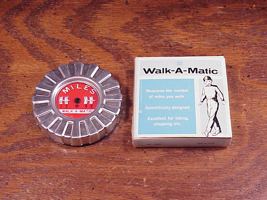 Walk-a-Matic Pedometer, no. 76333, Made in Japan, with box