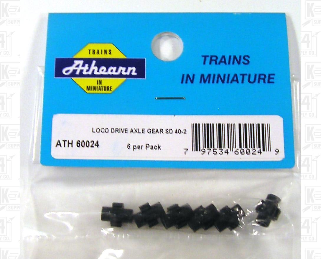 Athearn HO Parts: Locomotive Axle Gears SD40-2. etc 60024