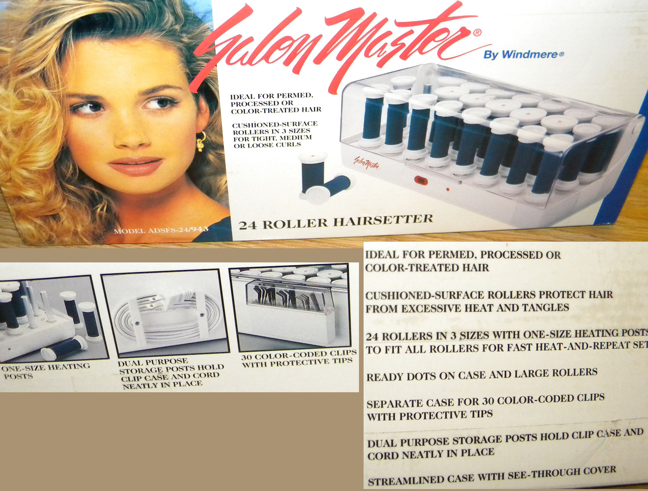 SALON MASTER Windmere 24 Hot Heated Rollers Hair setter FAST
