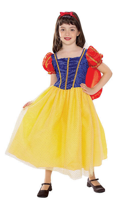 Image 1 of Rubies Snow White Cottage Princess Costume Sparkly Tulle Tutu Skirt/Red Cape - Y