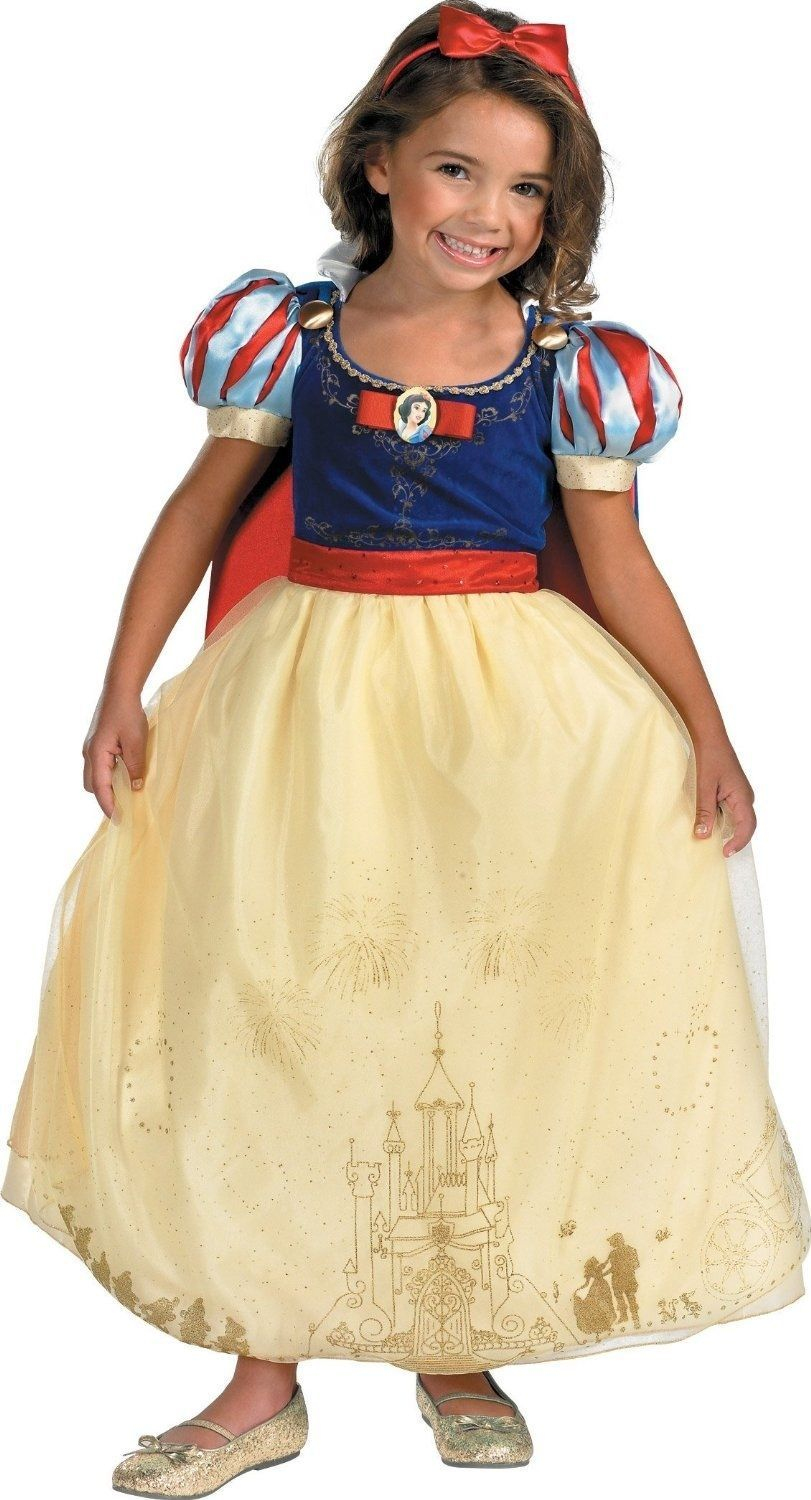 Image 1 of Disney Storybook Princess Snow White Prestige Dress Costume, Disguise, Polyester