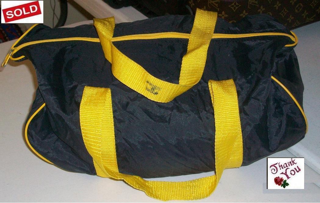 Nylon black & yellow Pack Cloth sport / gym  Weekender Duffl Bonanza