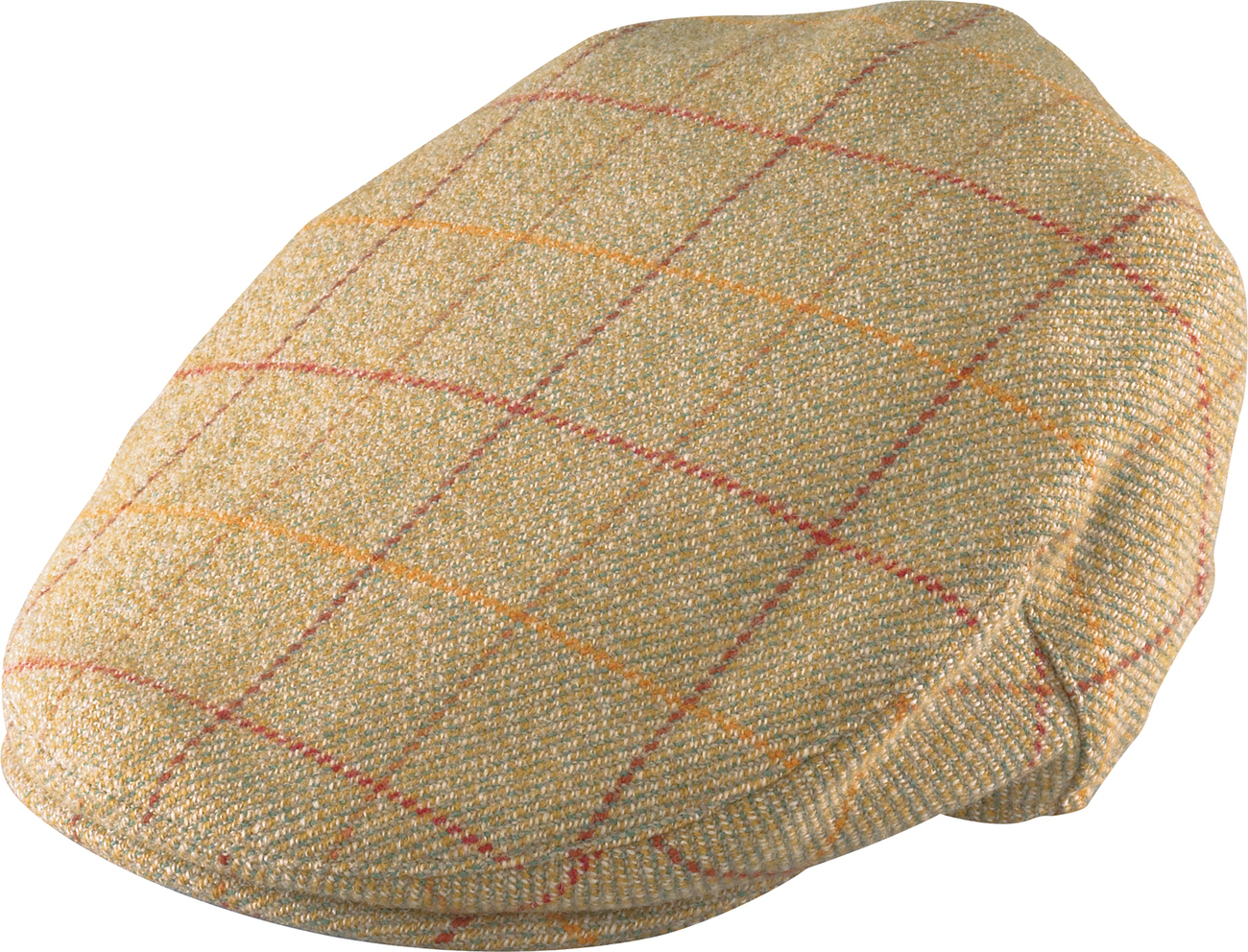 Henschel Waterproofed Wool Plaid 5 Point Ivy League Cap Satin Lined Olive Loden