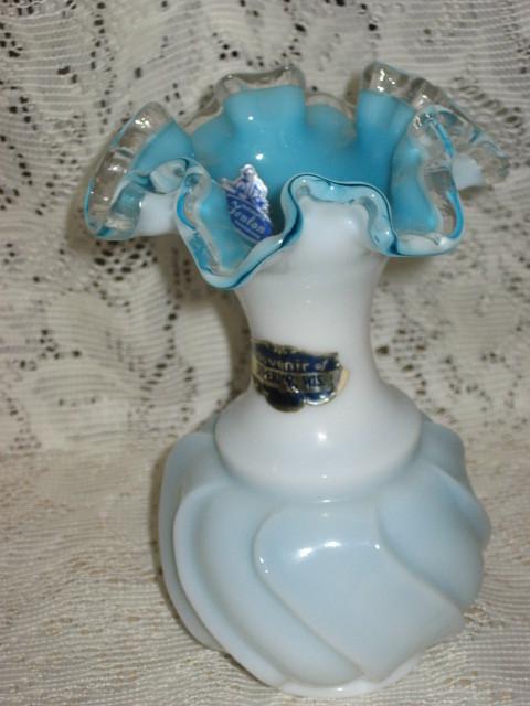 Fenton Glass - Melon Vase- 6 in.