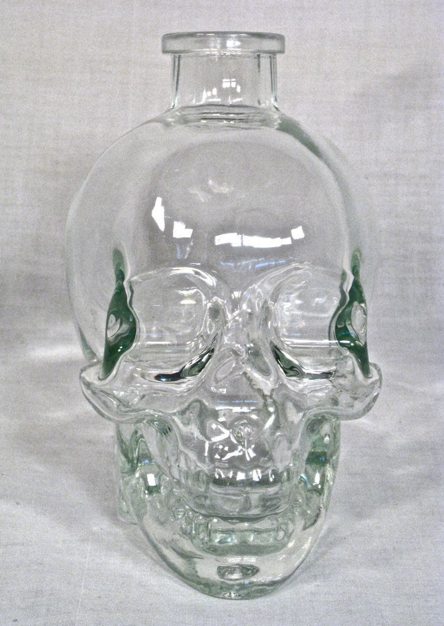 cool glass crystal skull bottle other