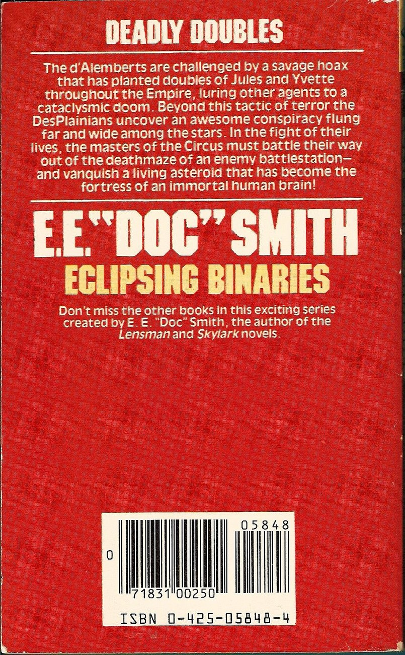 Image 1 of Eclipsing Binaries The Family d'Alembert Series #8 by E.E. Doc Smith