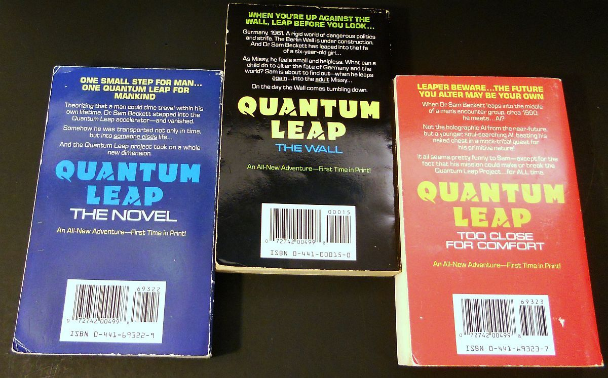 Image 1 of Quantum Leap 3 novels by Ashley McConnell 1992 TV Series