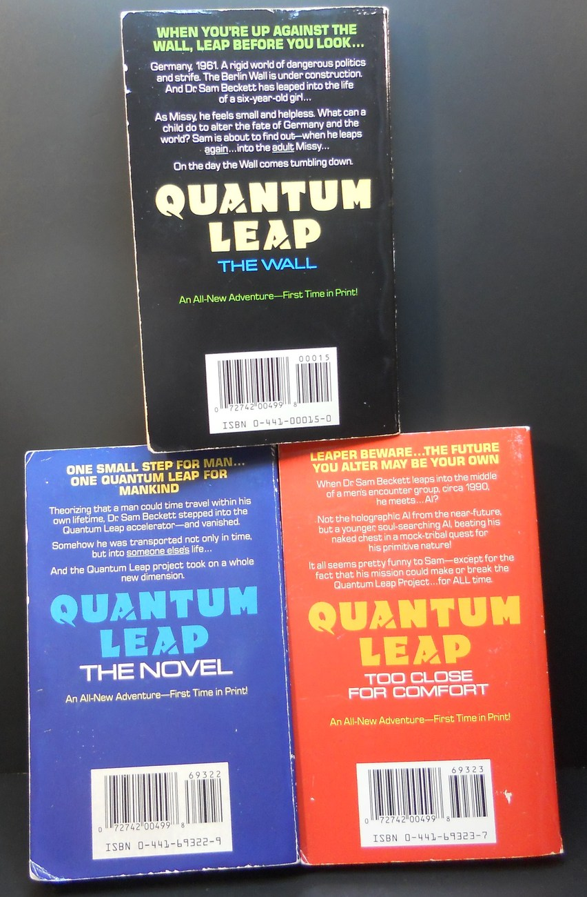 Image 3 of Quantum Leap 3 novels by Ashley McConnell 1992 TV Series