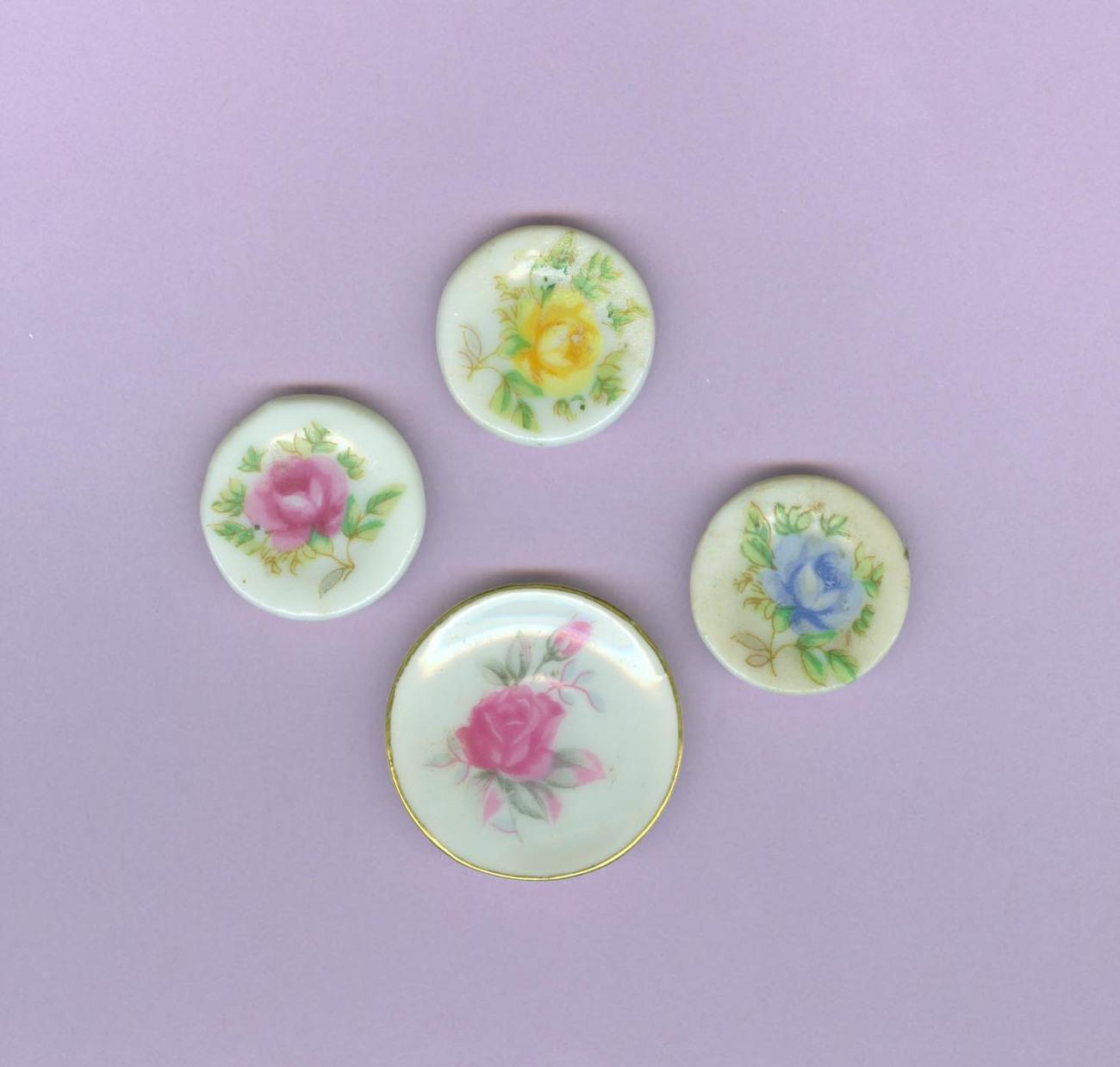 Decorative Wall Plates Nz : Doll house mini decorative china plates wall display