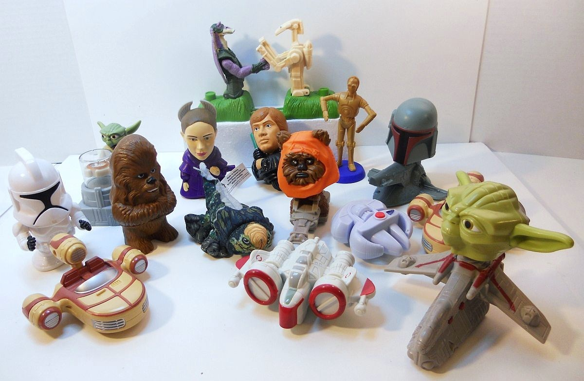 Fast Food Toys : Star wars fast food toys and vehicles lot burger king