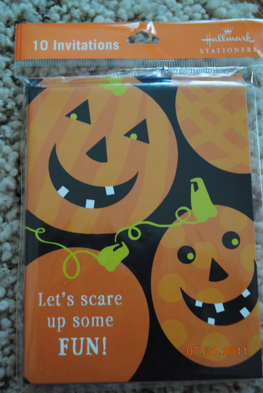 Halloween Party Invitations 8 Per Package NEW