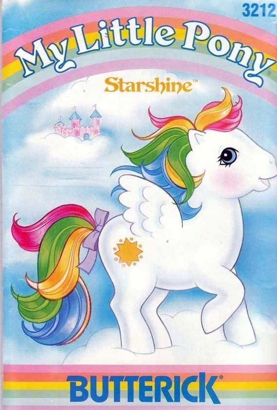 Vtg Butterick 3212 My Little Pony STARSHINE Plush Pattern