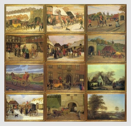12 Cards, Charming Old Paintings, Danish Postal History