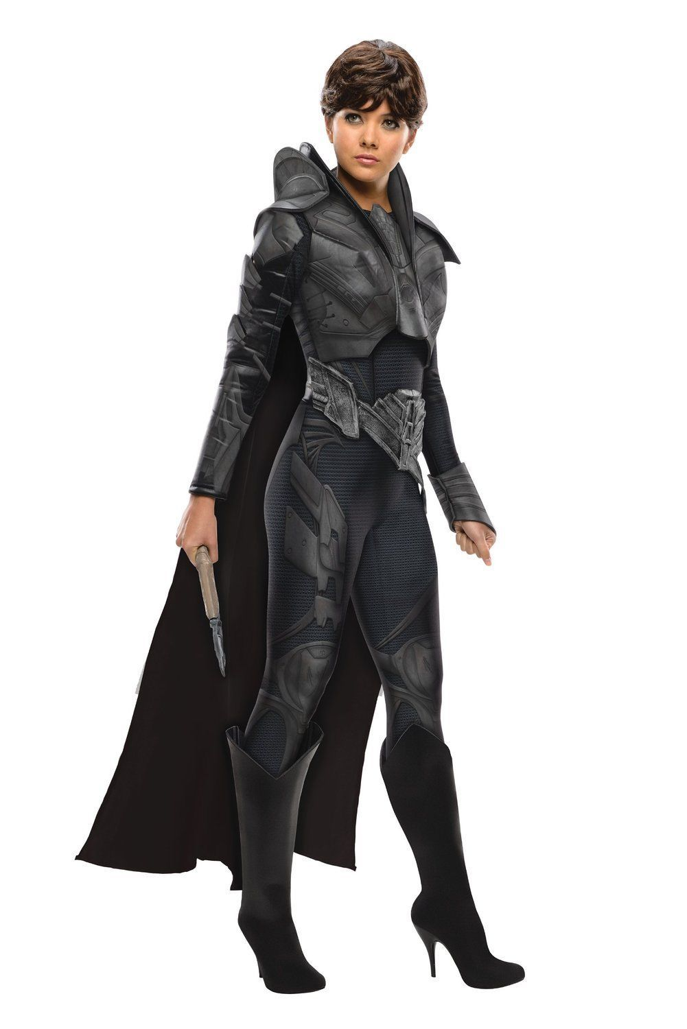 Image 1 of Secret Wishes Superman Man of Steel Black Faora Adult Ladies Costume w/Cape - M