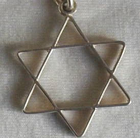 David Star silver pendant