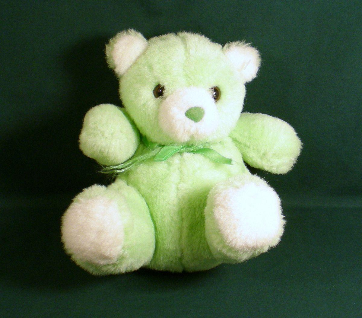 American Wego Light Green Plush Teddy Bear 1992