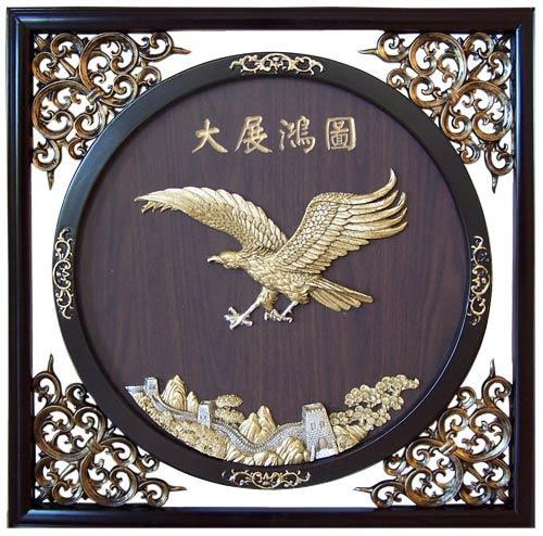 22 5 soaring eagle wall carvings home decor for Eagle decorations home