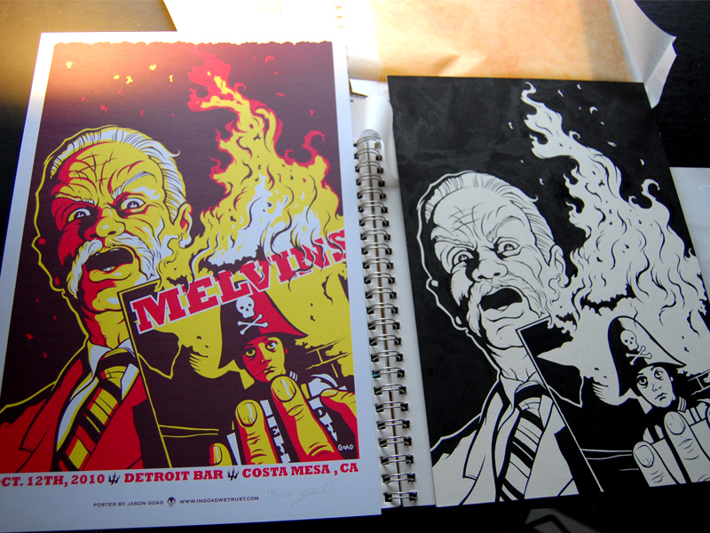 Melvins original lineart and poster