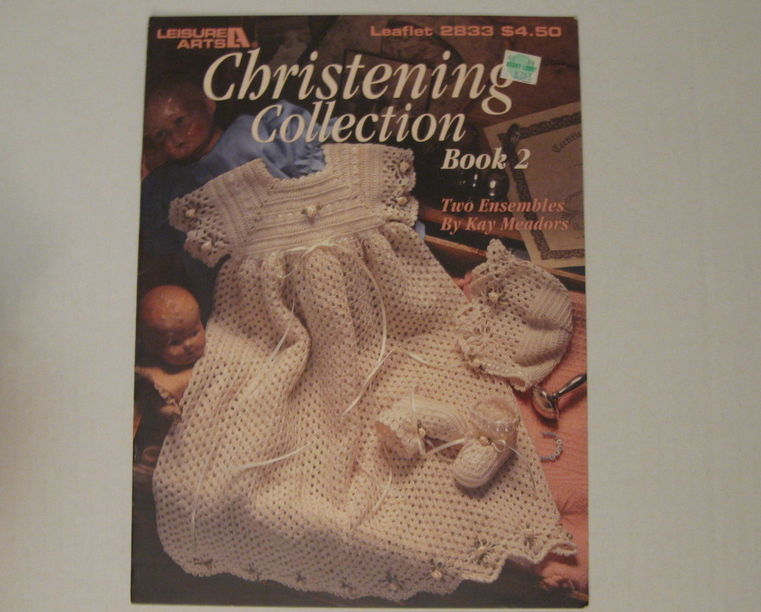 Christening Collection Book 2 Crochet  outfits for baby
