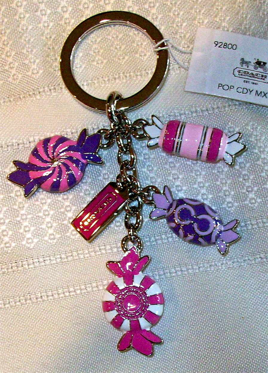 Coach Pop Poppy Candy Mix Keychain Key Fob 92800 NWT