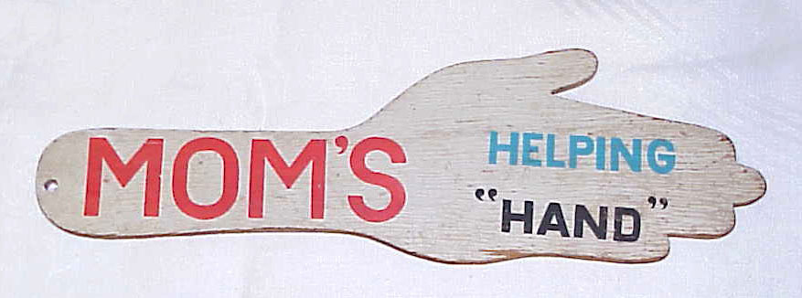 Vintage Wood Spanking Paddle - MOM's HELPING HAND