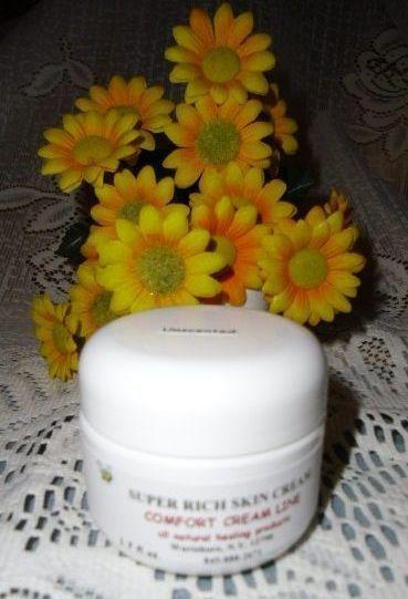 Comfort Cream Line SUPER RICH SKIN CREAM-Unscented 1.7 oz.; all natural Comfort Cream Line