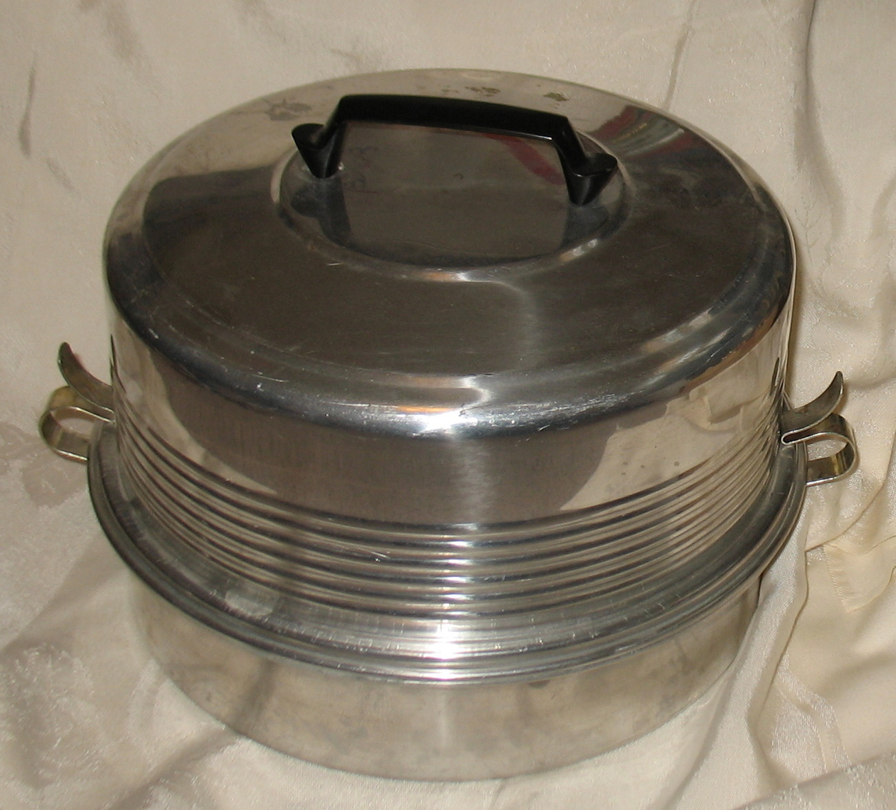 Vintage Regal Quality Aluminum Cake and Pie Carrier 3 Piece 1950's