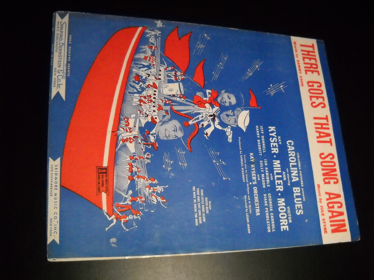 Sheet Music There Goes That Song Again from Carolina Blues 1944 Kay Kyser Miller