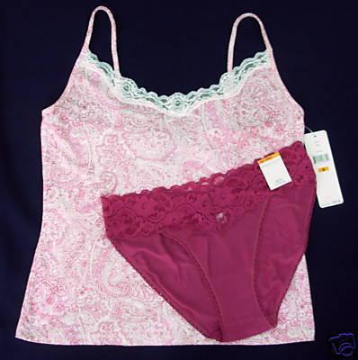 New $44 LAUREN Camisole M Taylor Bikini Panties combo S Bonanza