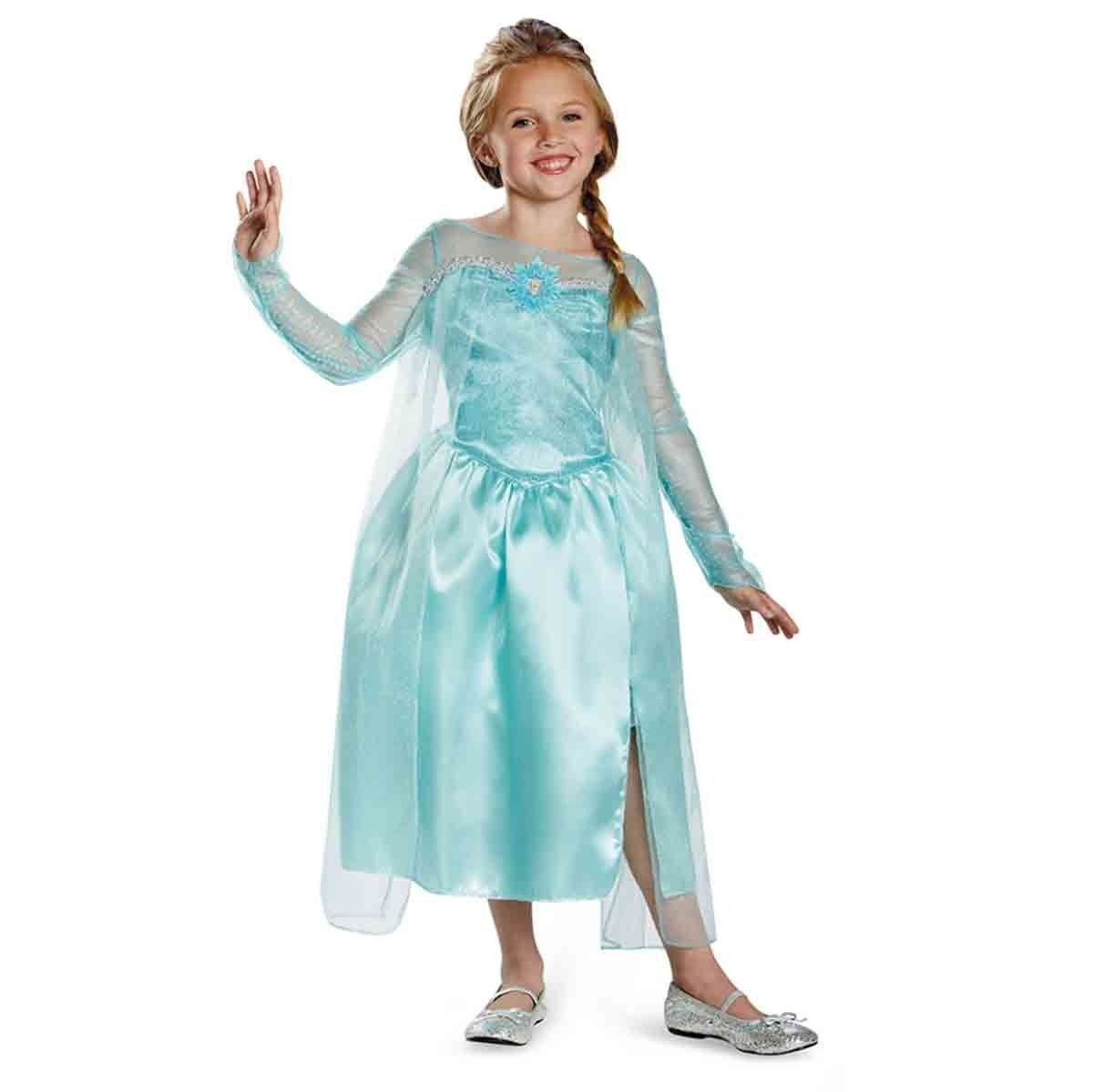 Image 0 of Disney Frozen Elsa Snow Queen Classic Blue Dress Child Costume 76906 Disguise -