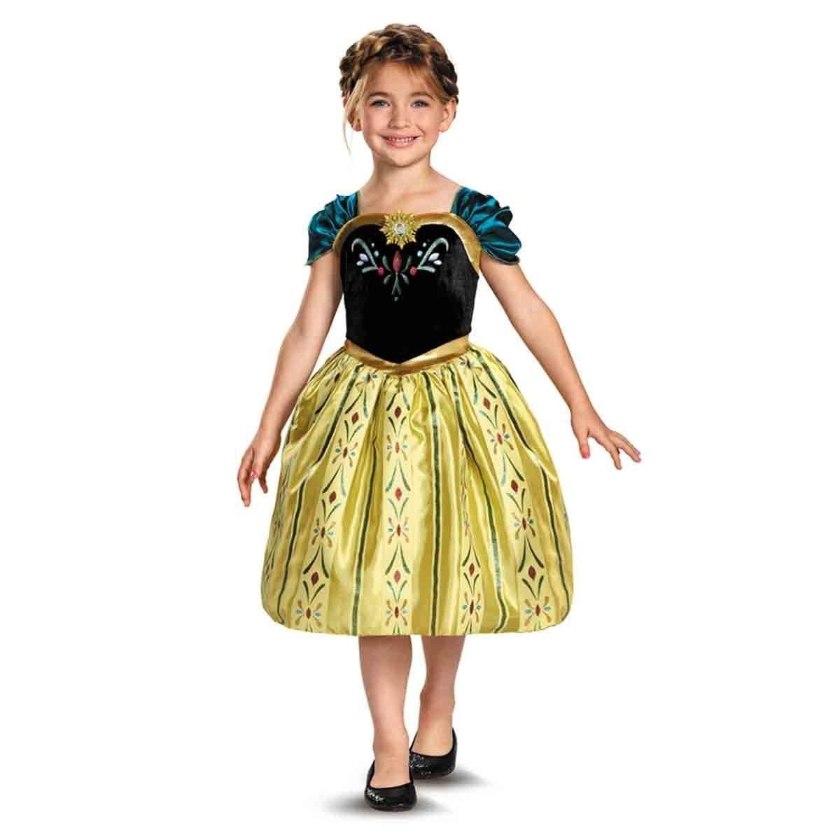 Image 1 of Disney Frozen Princess Anna Classic Coronation Gown Child Costume 76903 - Gold -