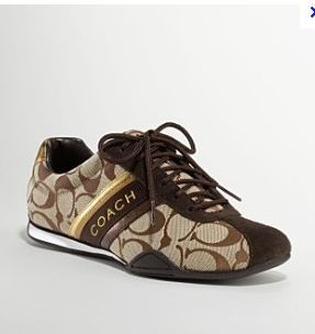 NEW AUTHENTIC COACH SIGNATURE JAYME TENNIS SHOES SNEAKERS KHAKI BROWN SIZE 12