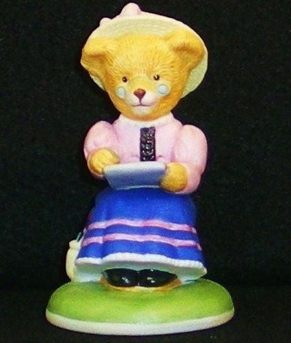 Phoebe Woolington porcelain bear Carol Lawson 1986 Teddington Bears