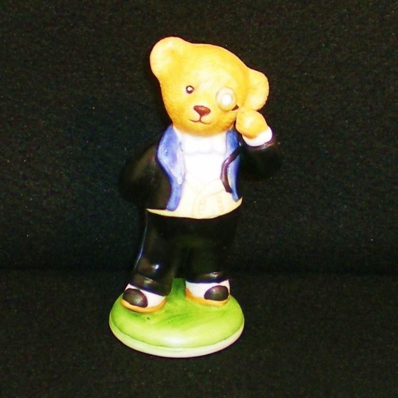 Image 4 of Hotel Teddington Reggie Bruin porcelain bear figurine 1986