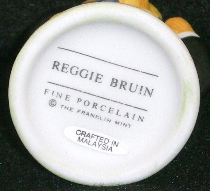 Image 5 of Hotel Teddington Reggie Bruin porcelain bear figurine 1986