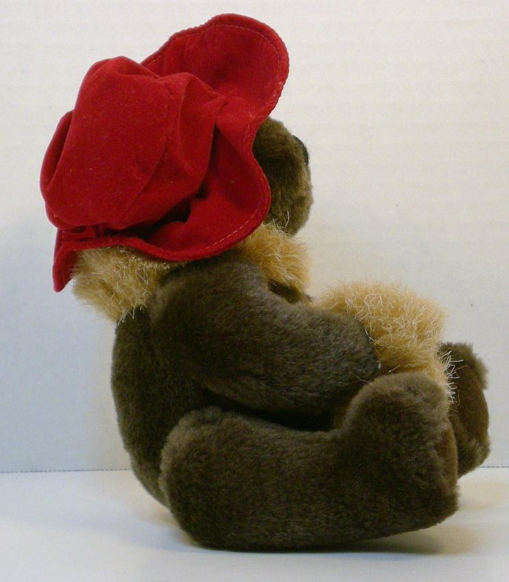 Image 3 of Red Hat Lady teddybear 5 inch 1994 gift sitting