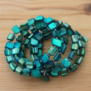 Blue Mother of Pearl Bracelet One Size Fits All