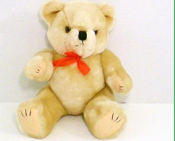 Teddy Bear tan stuffed bear gift jointed 1992