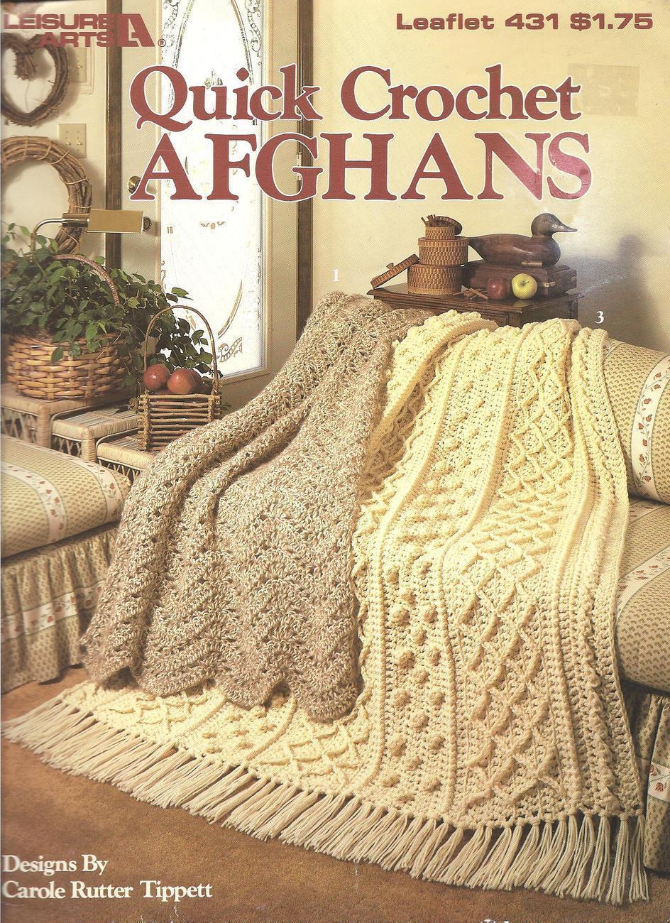 Quick Crochet Afghan Patterns~3 Designs~OOP - Afghans