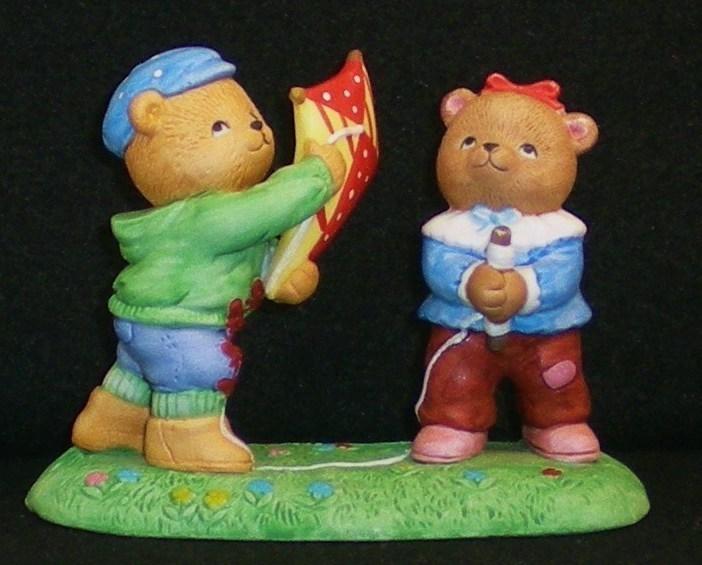 Image 1 of Calendar Bears March Winds Bears Bronson Figurine 1990