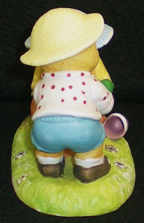 Image 3 of Calendar Bears May Planting Bears Bronson Figurine 1990