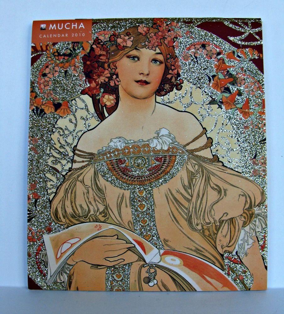 Calendar Art Models : Alfons mucha mini wall calendar art noveau