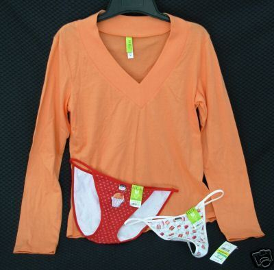 New lot HUE sz MED Pajama Sleep Top Thong Bikini Panties M $41 retail Bonanza