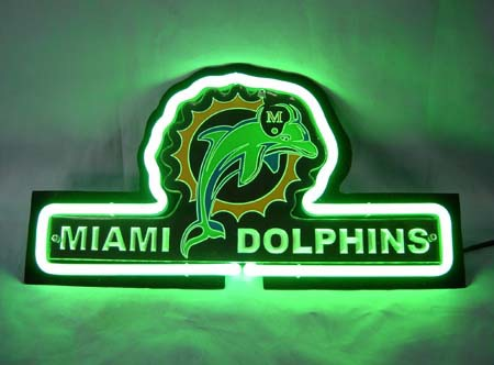 Sd112 nfl miami dolphins 3d beer bar neon light sign 13 #2: SD112 NFL Miami Dolphins 3D Beer Bar Neon Light Sign 13 x 8 Free Shipping Worldwide