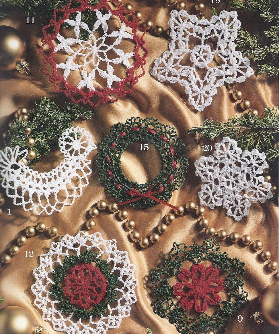 Thread Christmas Tree: 21 Thread Crochet Christmas Tree Ornaments Angel Snowflake