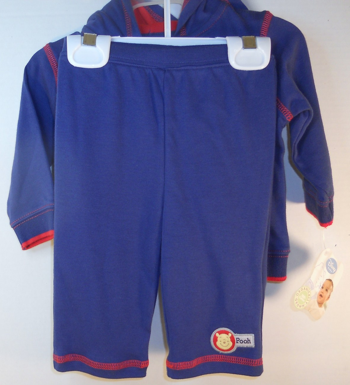 Image 4 of Disney Child Baby Navy red Warm-up suit 3/6 months Winnie the Pooh